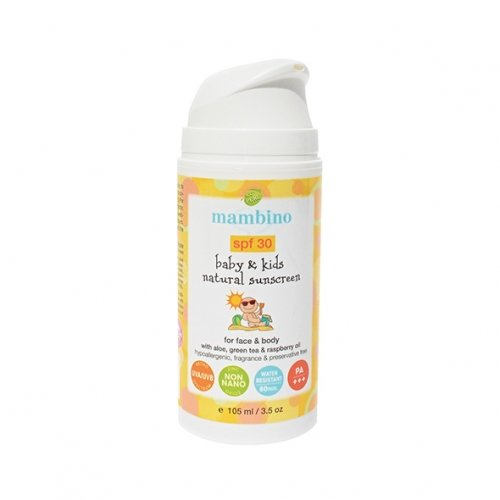 Детский натуральный, минеральный, солнцезащитный крем SPF 30, MAMBINO ORGANICS, 100мл