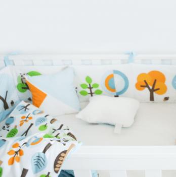 Защита для кроватки Cotton Living Forest Owls Blue