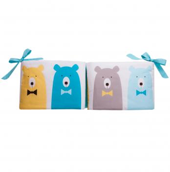 Защитные бортики Cotton Living Funny Bears Blue