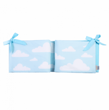 Защита для кроватки Cotton Living Blue Clouds