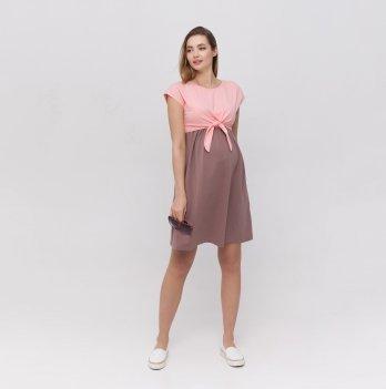 Платье для беременных и кормящих Юла Мама Carter Розовый/Капучино DR-21.051