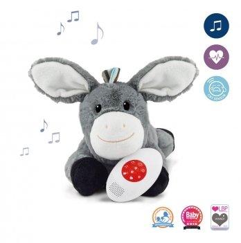Мягкая игрушка Zazu DON успокаивает новорожденного, имитируя сердцебиение мамы