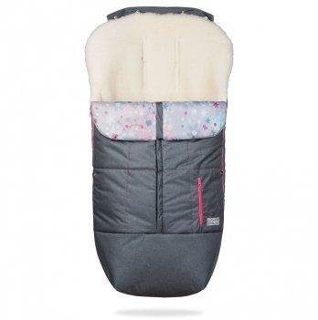 Конверт-чехол на ножки ДоРечі Trend Графитовый с розовым декором