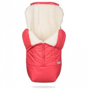 Зимний конверт в коляску на овчине ДоРечі Trend Красный