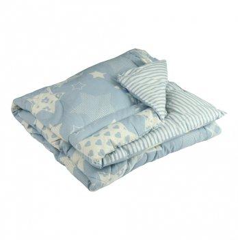 Одеяло детское шерстяное Руно Blue star 140х105 см