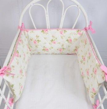 Бортики в кроватку Magbaby Улитка Розы на половину кроватки