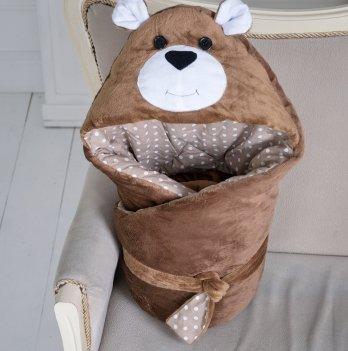 Конверт одеяло Magbaby летний из серии Зверята однослойный Мишка коричневый