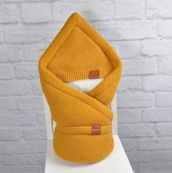Конверт-одеяло вязанное махра Magbaby Familia Горчичный