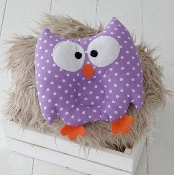 Детская ортопедическая подушка-игрушка Magbaby для новорожденных, Совушка, фиолетовая