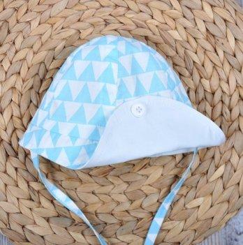 Панама для новорожденных, Magbaby, Lapel, Треугольники голубые