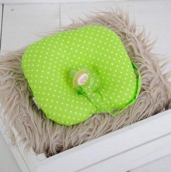 Детская подушка для новорожденных с держателем Magbaby, салатовая
