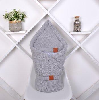 Конверт-одеяло вязанное трикотаж Magbaby Familia Серый