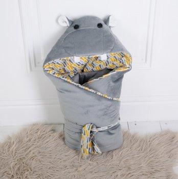 Конверт одеяло Magbaby летний из серии Зверята однослойный Бегемотик Мота-Мота