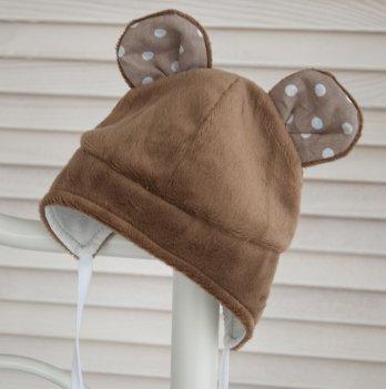 Шапочка для новорожденного Magbaby Мишка коричневая
