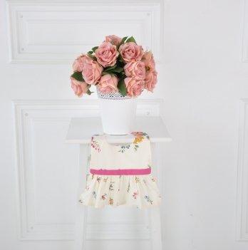 Слюнявчик Magbaby Платье Букет Молочный 101408