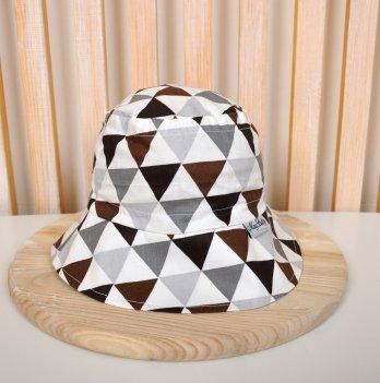 Панама Magbaby Classik Треугольники коричнево-серые