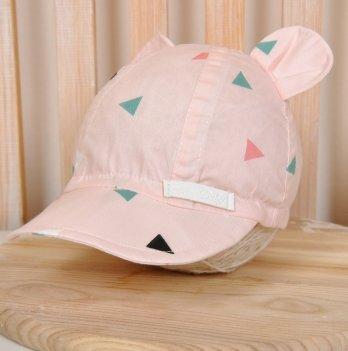 Кепка с ушками Magbaby Треугольники на розовом
