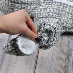 Комбинезон для новорожденных Magbaby стеганый, с рукавичками, Косичка