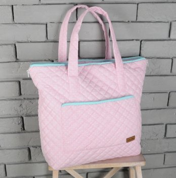 Сумка-матрац для пеленания, Magbaby, розово-бирюзовая