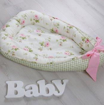 Гнездо для новорожденного Magbaby Babynest Чайная роза