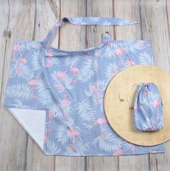 Накидка для кормления MagBaby Фламинго с листьями + сумочка-чехол