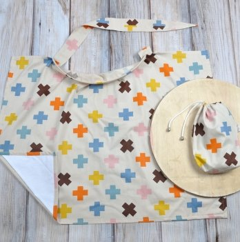 Накидка для кормления MagBaby Плюсики + сумочка-чехол