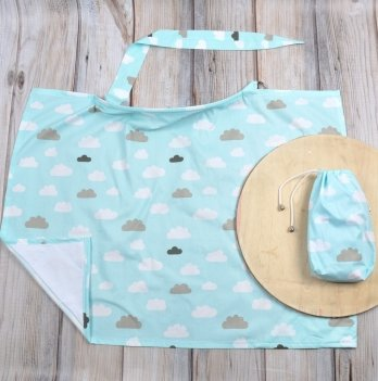 Накидка для кормления MagBaby Облачка + сумочка-чехол