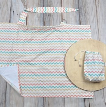 Накидка для кормления MagBaby, Цветной зигзаг, + сумочка-чехол