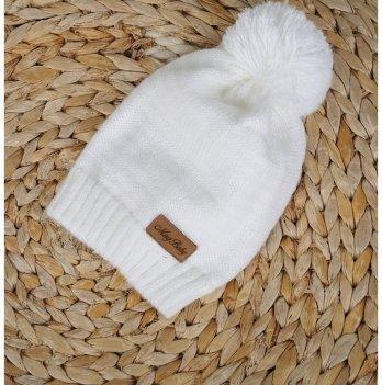 Вязаная шапочка Lucky Magbaby белый