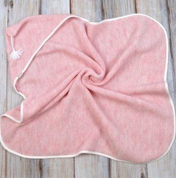 Плед-конверт вязанный Magbaby, с кисточкой, розовый