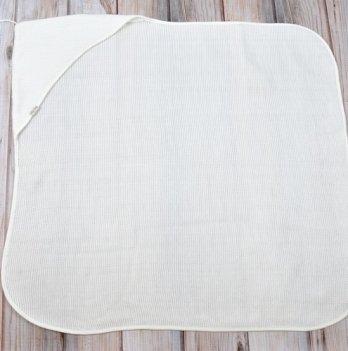 Плед-конверт вязанный Magbaby, с кисточкой, молочный