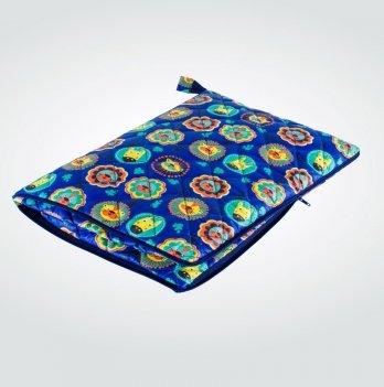 Подушка-плед Лев Idea 8-11724 голубой 100х100/35х25 см