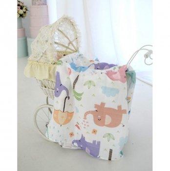 Муслиновая пеленка Embrace Слон 100х120 см