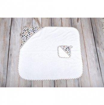 Комплект для купания малыша Лисички Magbaby белый