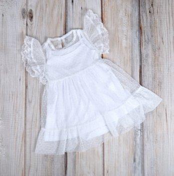 Фатиновое платье с боди MagBaby белое