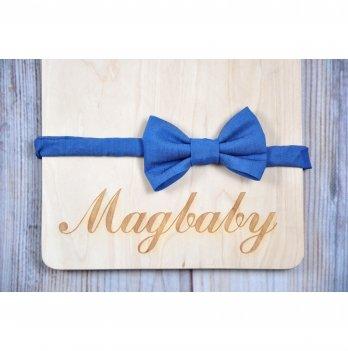 Повязка для девочки MagBaby Бантик Джинс