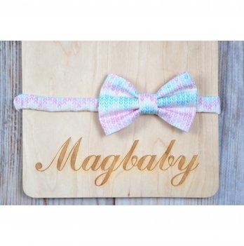 Повязка для девочки MagBaby Бантик Косички
