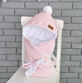 Конверт-одеяло на выписку Magbaby, велюровый на трикотаже, розовый меланж