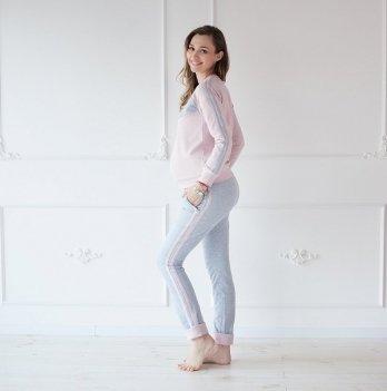 Штаны утепленные для беременных MBerry dress пудровые