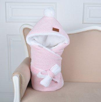 Конверт-одеяло на выписку Magbaby, велюровый на махре, розовый меланж