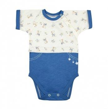 Боди-футболка Veres Little Bear blue кулир