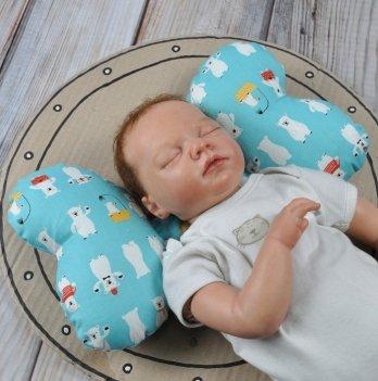 Ортопедическая подушка для новорожденных Magbaby, Butterfly, Мишка белый