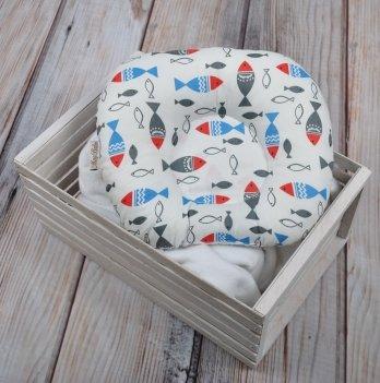 Ортопедическая подушка для новорожденных Magbaby, Цветные рыбки