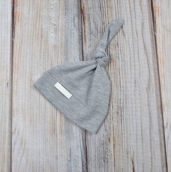 Шапочка-колпачок для новорожденного Magbaby, серый меланж