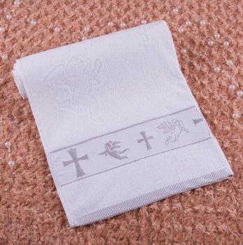 Полотенце Бетис Крещение махра Белый/Серебро 27068600 70х140 см