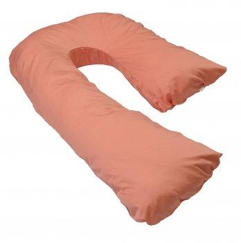 Подушка для беременных модель Сладкий сон Мои Подушки, наволочка коттон мандариновый