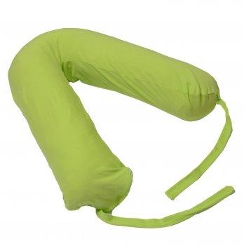 Подушка для беременных Бумеранг Мои Подушки, наволочка трикотаж зеленая