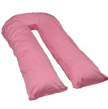 Подушка для беременных модель П Мои Подушки, наволочка трикотаж розовый