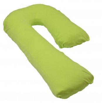 Подушка для беременных модель Сладкий сон Мои Подушки, наволочка трикотаж зеленый