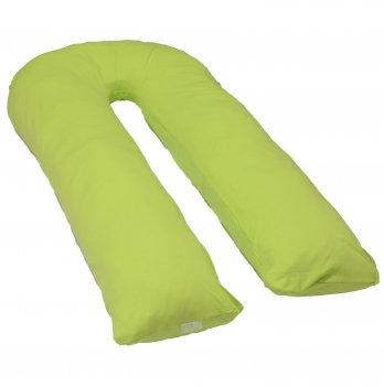 Подушка для беременных модель П Мои Подушки, наволочка трикотаж зеленый